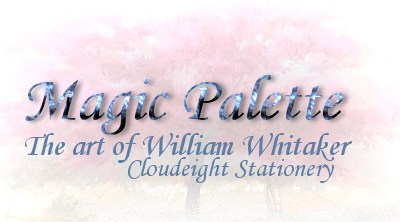 Cloudeight Stationery- QuickNotes 139 Magic Pallette - the art of William Whitaker