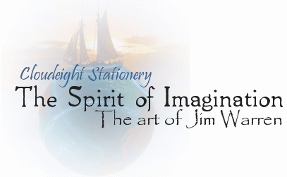 Cloudeight Stationery-The Spirit of Imagination - The art of Jim Warren