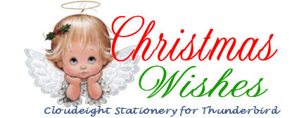 Christmas Wishes- Cloudeight Stationery