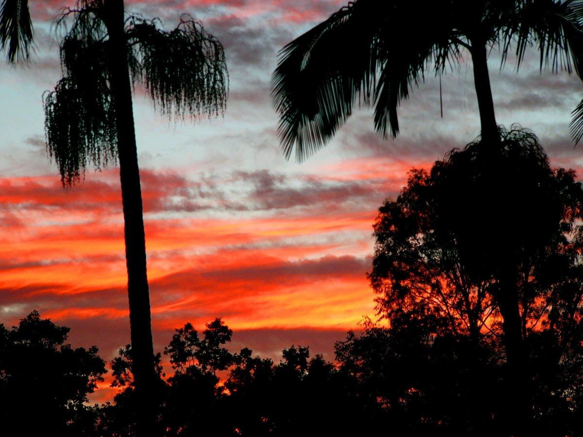 tropical sunset desktop wallpaper - www.
