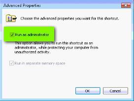 Vista Command Prompt  dialog