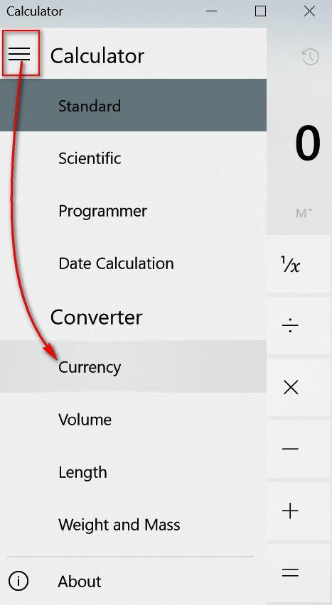 Windows Calculator Currency Converter - Cloudeight InfoAve