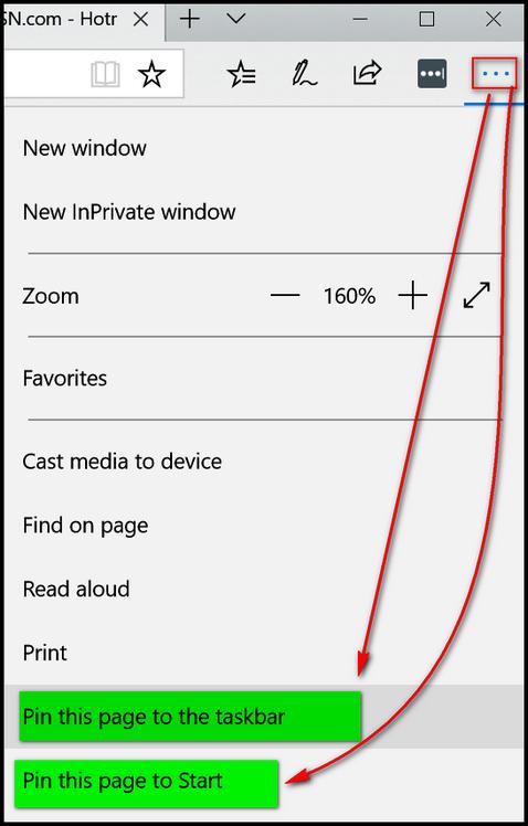 Cloudeight InfoAve - Edge - Pin to Taskbar