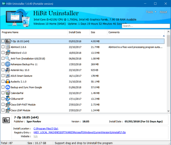 Cloudeight Freeware Pick - HiBit Uninatller
