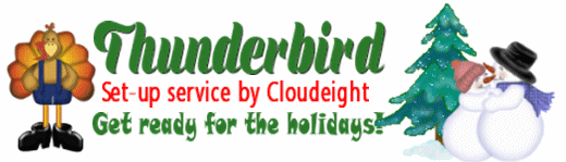 Thunderbird Email Set-up service by Cloudeight