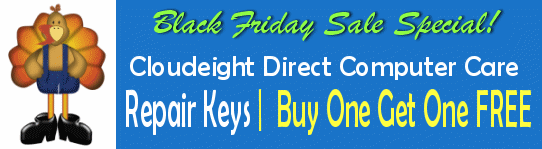 Cloudeight 2018 Black Friday Sale - Cloudeight Direct Computer Care Repair Keys