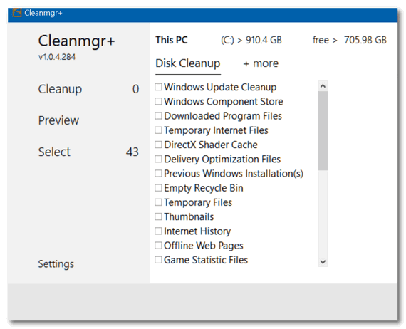Cloudeight freeware pick -- Cleanmgr+