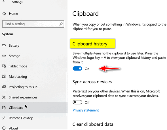 Clipboard History - Windows tips by Cloudeight