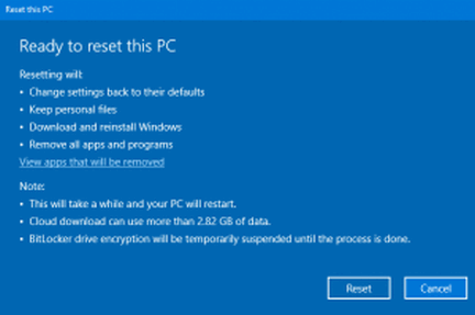 Windows 10 Cloud Reset - Cloudeight Windows 10 Tips