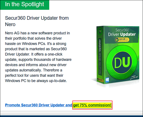Cloudeight InfoAve - Driver Updater Commission