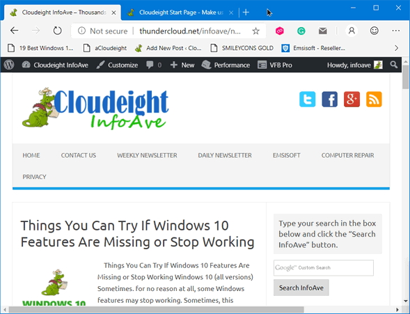 Cloudeight InfoAve Edge Dev