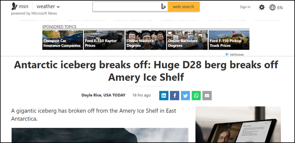 MSN Story - Not Distilled - Cloudeight Chrome tips