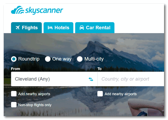 Cloudeight Site Pick - Skyscanner
