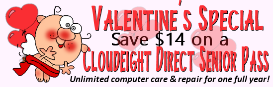 Cloudeight Valentine's Sale - Senior Pass