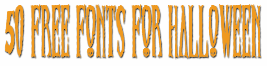 50 FREE FONTS FOR HALLOWEEN - Cloudeight Freeware Pick