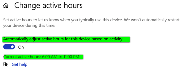 Cloudeight InfoAve Windows 10 Tips - Active Hours