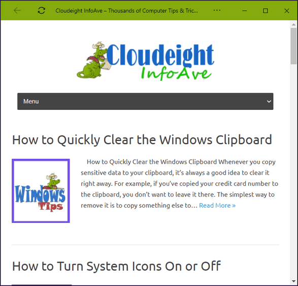 MS Edge Tips by Cloudeight
