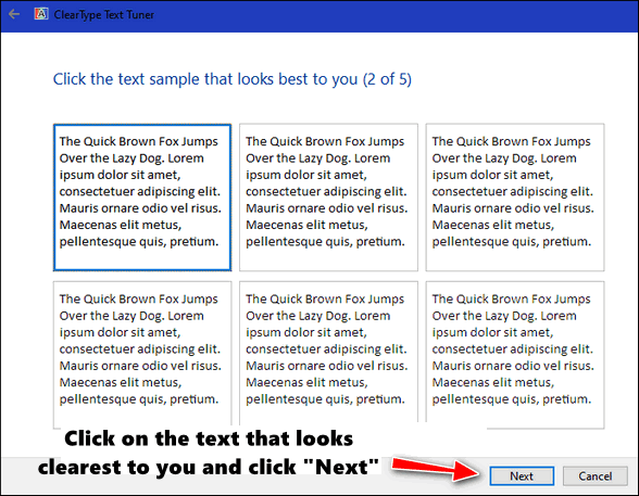Cloudeight Windows 10 Tips - Clear Type Tuner