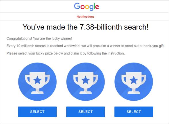 Beware this fake Google Scam