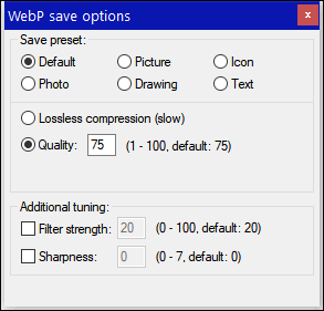 Create WebP images with Irfanview - Cloudeight InfoAve