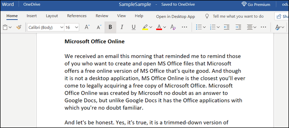 Microsoft Office Online - Cloudeight Freeware Pick