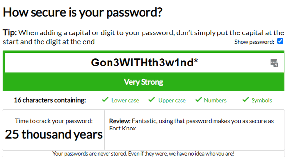 Strong Passwords - Cloudeight