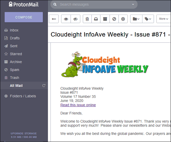 Privacy & ProtonMail Cloudeight Site & Freeware Pick