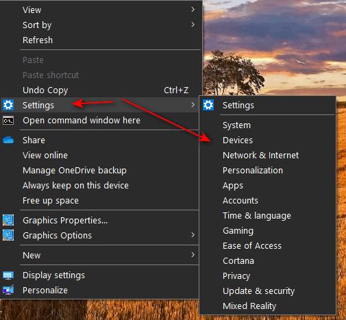 Right-click Settings Menu - Cloudeight Internet