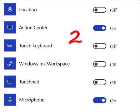 Turn System Icons On or Off - Cloudeight InfoAve Windows 10 tips