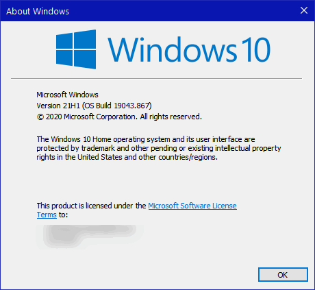 Windows 10 version and build number - Cloudeight Windows 10 Tips