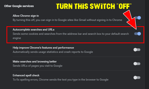 Turn off Chrome Autocomplete - Cloudeight Chrome Tip
