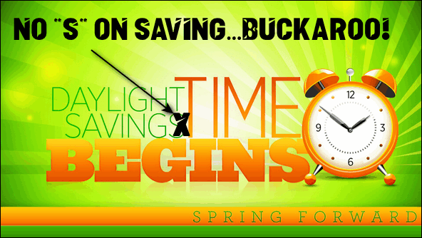 NO S In Daylight Saving Time - Cloudeight InfoAve