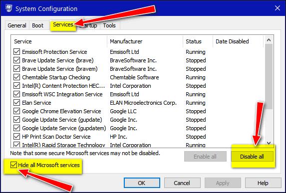 Windows 10 Clean Boot - Cloudeight Windows 10 Tips