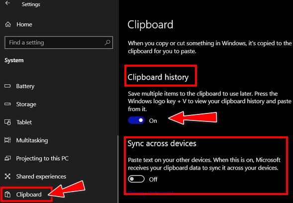 Cloudeight Windows 10 Tips - The Cloud Clipboard