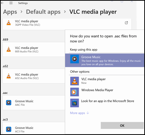 Default Apps Settings - Windows 11 - Cloudeight InfoAve