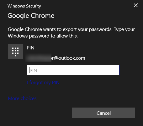 Cloudeight export passwords from Google Chrome