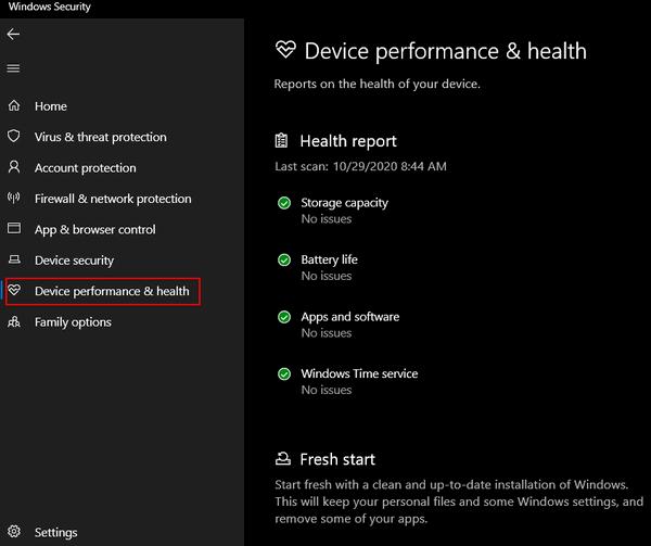 Windows 10 Tips - Health & Performance Report