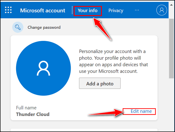 Change your display name on Windows 10 - Cloudeight InfoAve