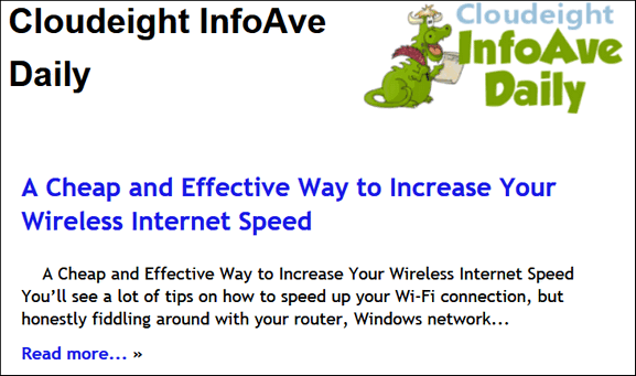 The new Cloudeight InfoAve Daily...