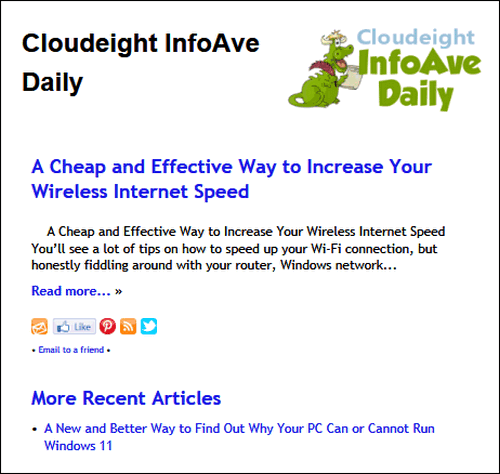 Cloudeight InfoAve Daily
