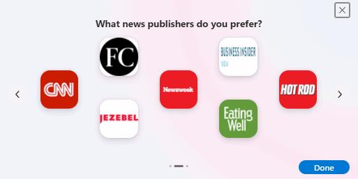 News & Interests Taskbar Widget - Cloudeight InfoAve