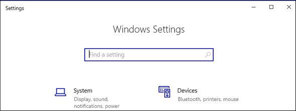 No Settings Banner - Cloudeight Windows 10 Tips