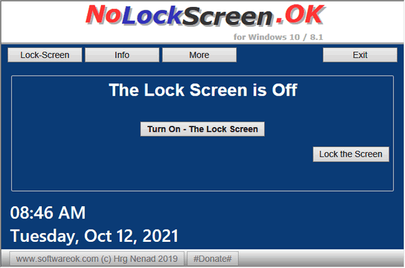 NoLockScreen.OK - Cloudeight
