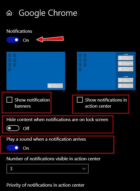 Customize Notifications - Cloudeight InfoAve Windows 10 Tips