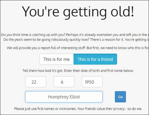 You're Getting Old - Cloudeight Site Pick