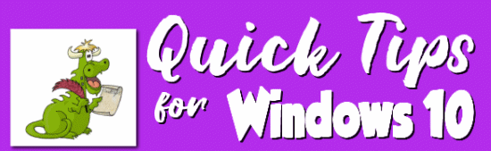 Cloudeight Quick Tips for Windows 10