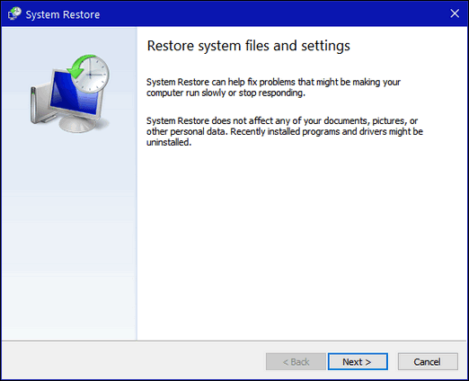 The Complete Guide to Windows 10 System Restore - Cloudeight Windows 10 Tips