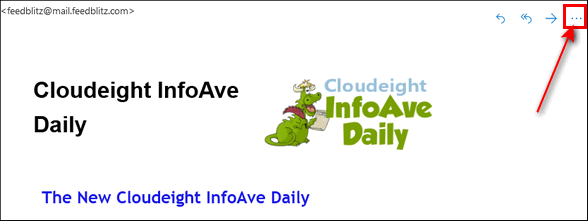 Add Cloudeight InfoAve Daily to you safesender list