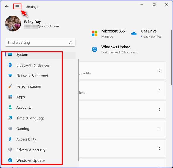 Windows 11 Settings App -Cloudeight