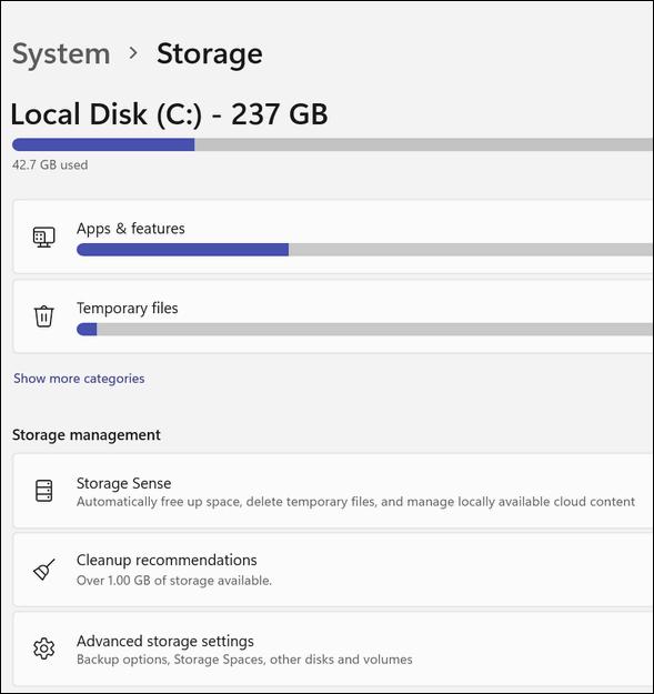 Windows 11 Storage Sense - Cloudeight